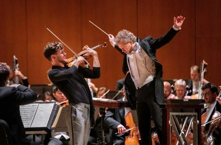Guest violinist Blake Pouliot and guest conductor Thomas Søndergård perform with the Atlanta Symphony Orchestra.
