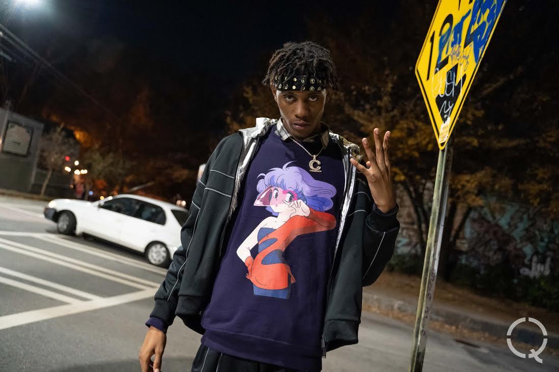 Rapper Big Havi on an Atlanta street.