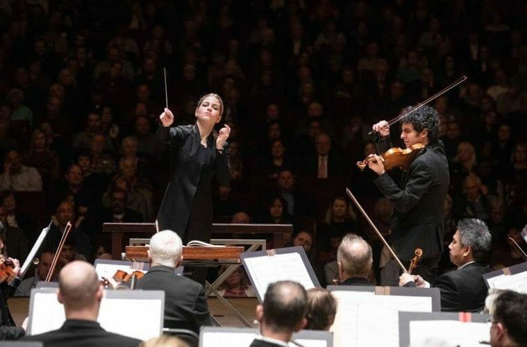 Atlanta Symphony Orchestra guest conductor Karina Canellakis.