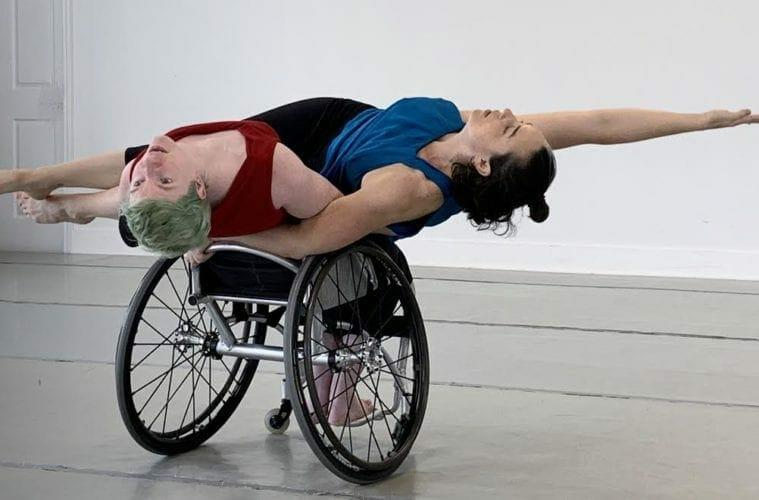A wheelchair-bound dancer with Full Radius Dance.