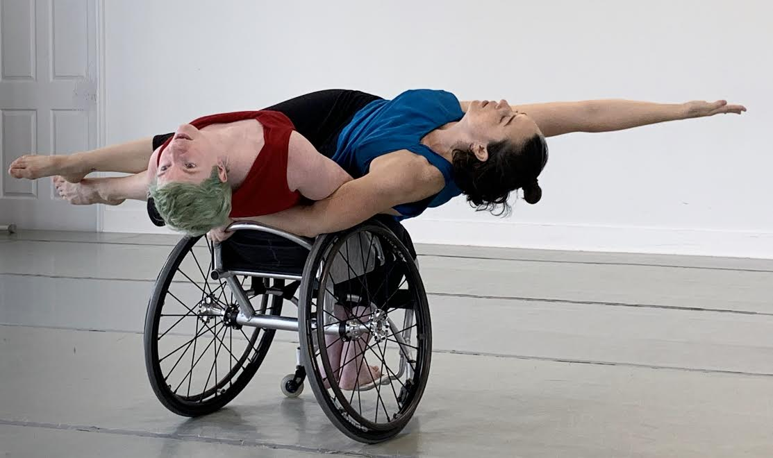 A wheelchair-bound dancer with Full Radius Dance.