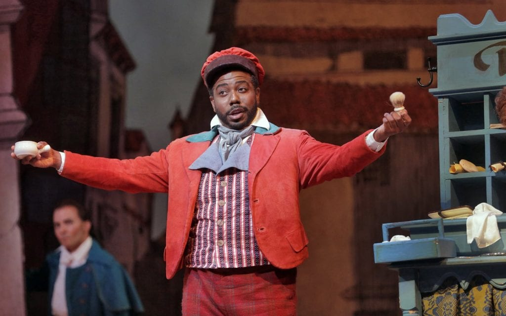 Simon Outlaw as Figaro for the Atlanta Opera