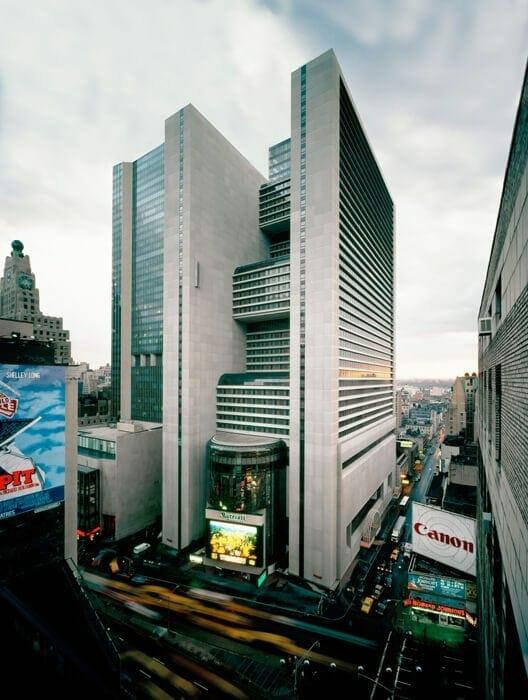 John Portman's Marriott Marquis in New York City.