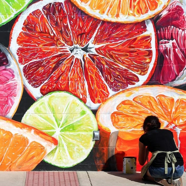 muralist Angela Faustina