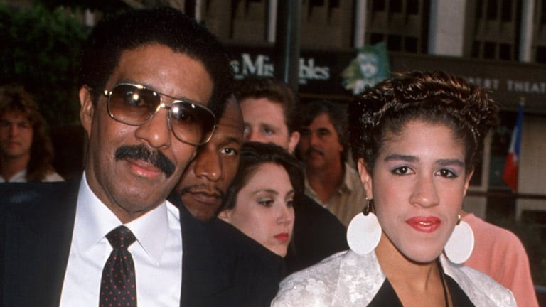 A young Rain Pryor with her father.
