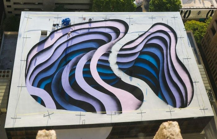 Peachtree Center rooftop mural.