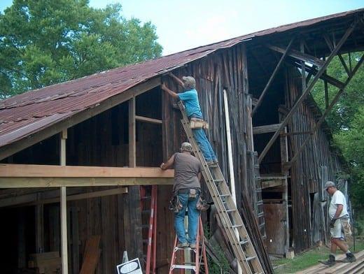 Restoring the cow barn