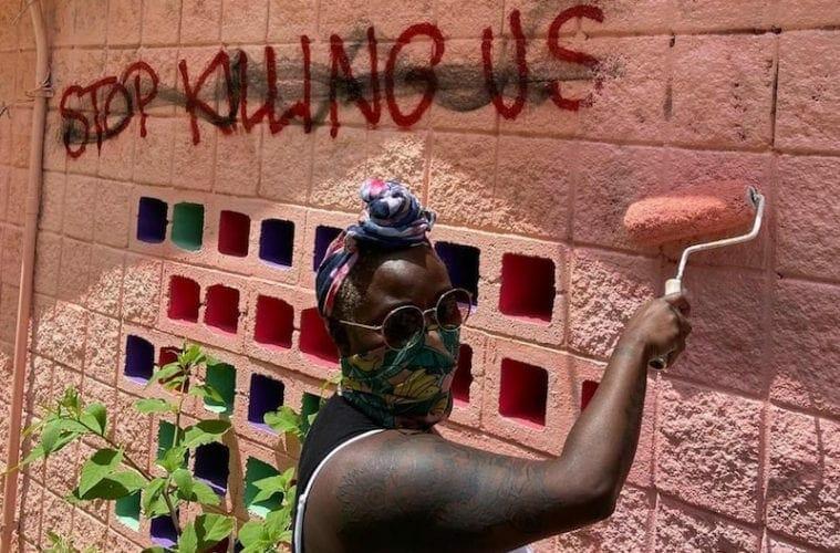 public art vandalism july 2021