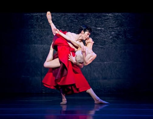 """Brandon Nguyen and Tara Lee in """"Requiem for a Rose."""" (Photos by Charlie McCullers)"""