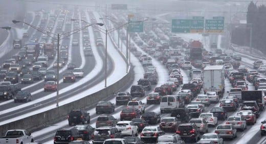 Winter storm gridlock, 2014