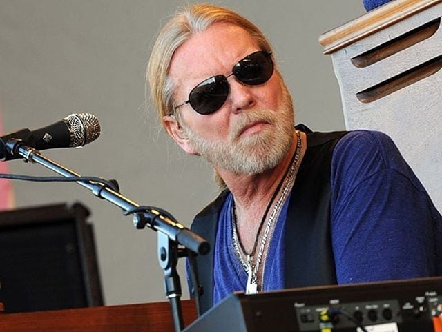 Rock legend Gregg Allman on stage.