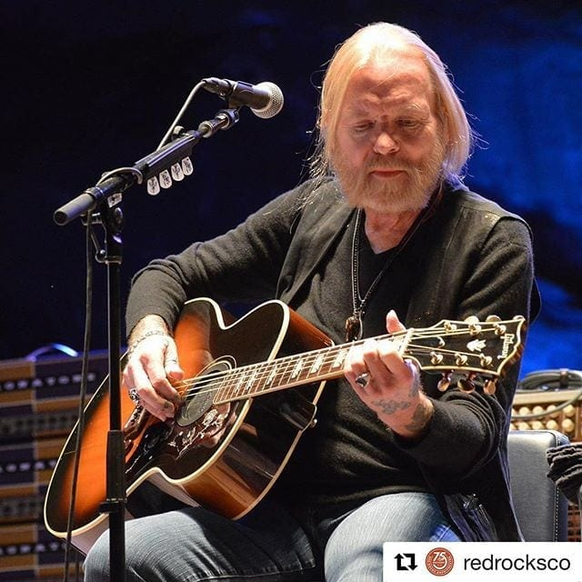 Allman returned to the stage last month at Red Rocks in Colorado.