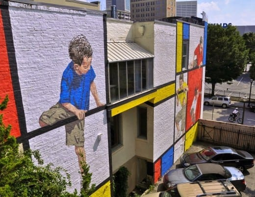 Mural by Ernest Zacharevic for Living Walls 2014