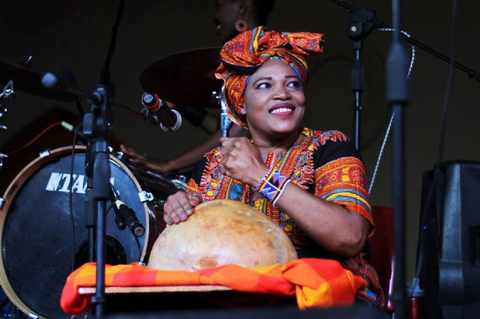 Musician Asia Madani during a performance with the group. Image courtesy The Nile Project.