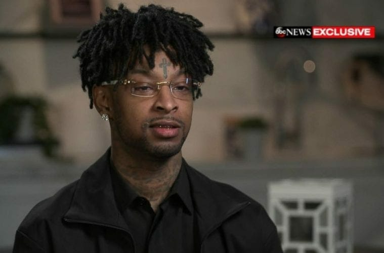 21 Savage gives an interview