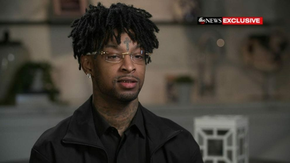 "21 Savage on ""Good Morning America."""