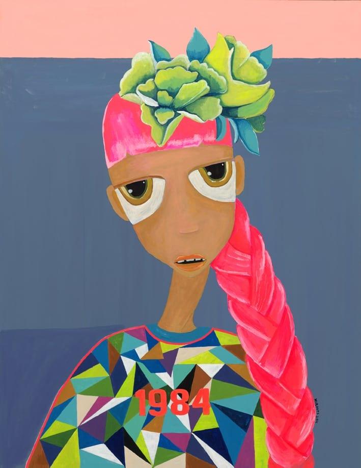 Hurit Yosef: 1984, acrylic on paper.