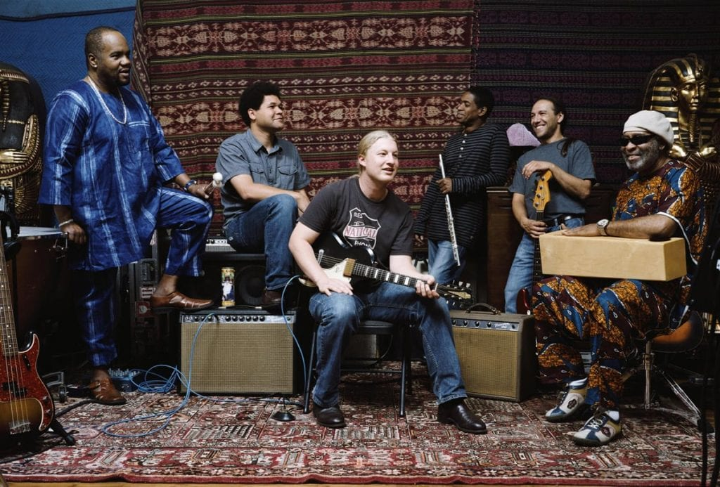 Scott (far left) with The Derek Trucks Band.