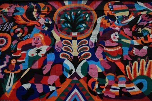 Detail of mural by 3TTman, sponsored by Living Walls 2013. (photo © Jaime Rojo)
