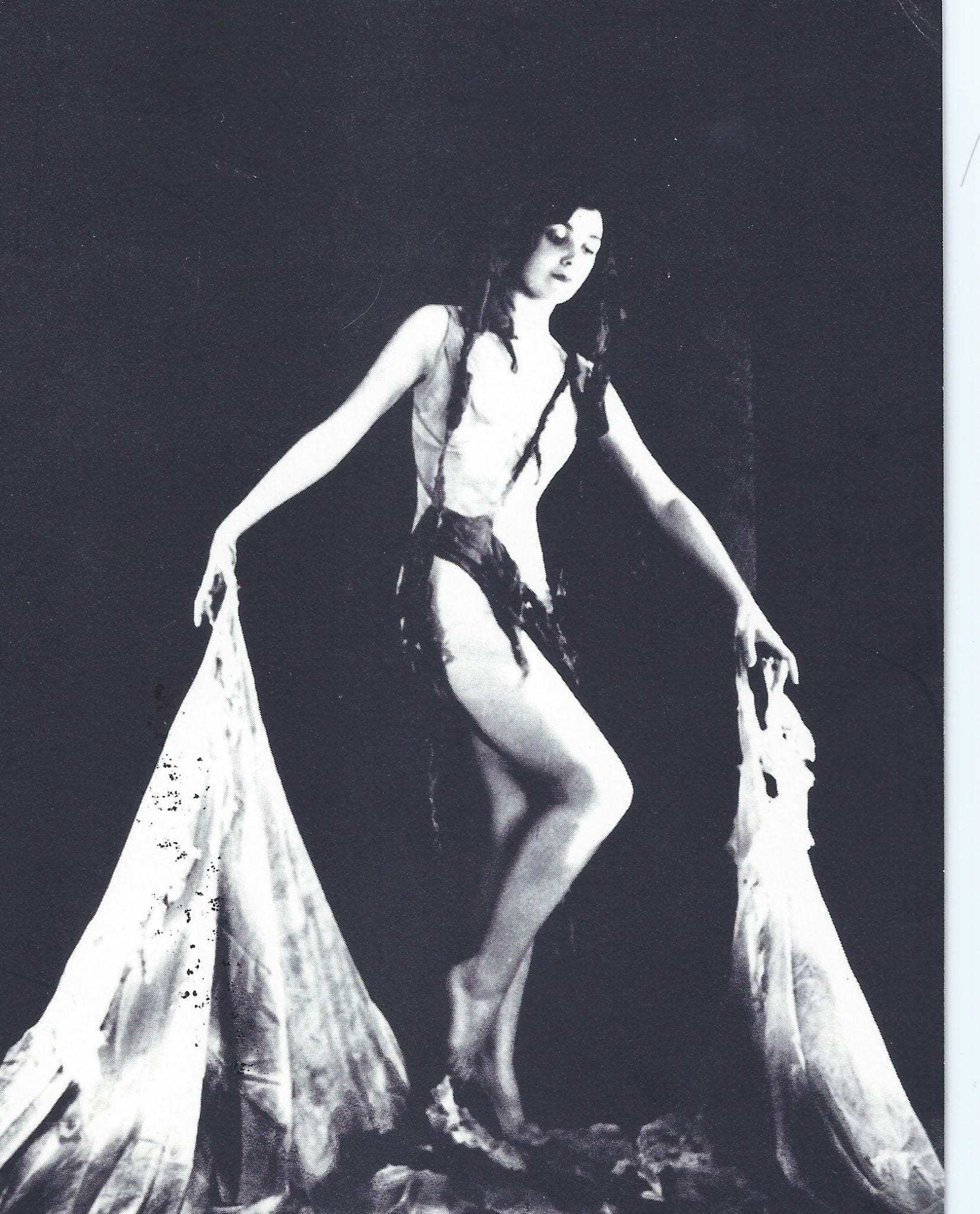 "The trailblazing Dorothy Alexander in 1929, dancing in ""A Strand of Black Elusive Seaweed."""