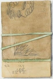 Wesley Terpstra:  Collected Series: Notepad, 2015, watercolor on paper. High Museum of Art, Atlanta, purchase with Antinori Fund.
