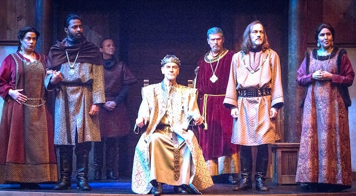 "Shakespeare Tavern Playhouse cast of ""King Lear,"" November 2019."