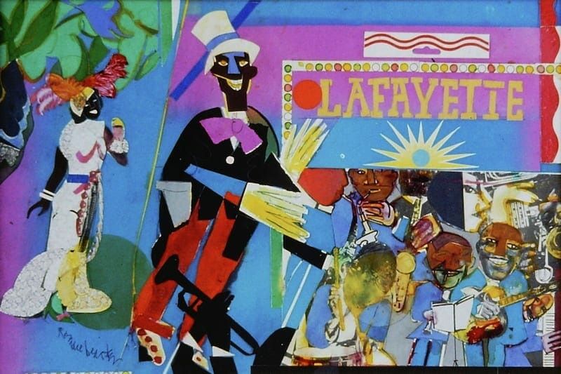 "Romare Bearden's ""Johnny Hudgins Comes On"""