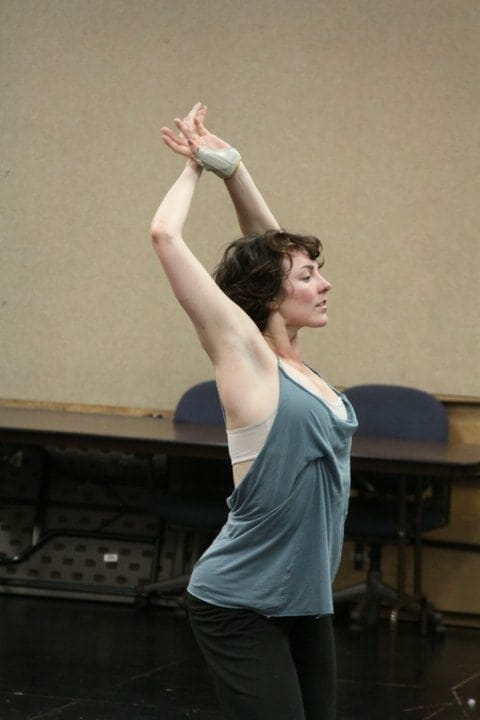 Dance artist Nicole Johnson in the studio.