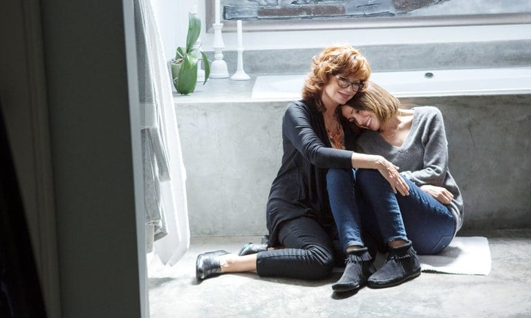 Susan Sarandon, left, and Rose Byrne play a mother and daughter in The Meddler.