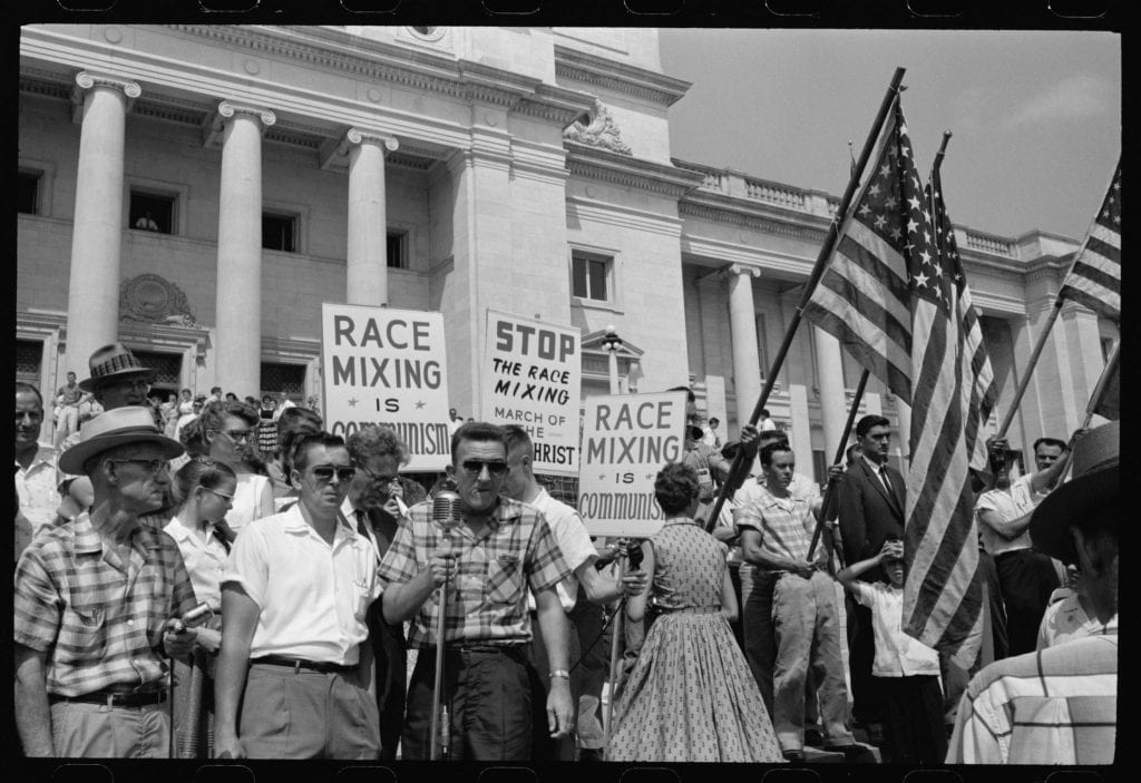 An anti-integration rally in Little Rock Arkansas. Photo courtesy of Magnolia Pictures,