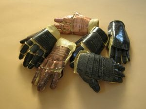 """From Cecelia Kane's collaborative project """"Hand to Hand,"""" which has chronicled every day of the Iraq war since 2003 through a series of artist-made gloves."""