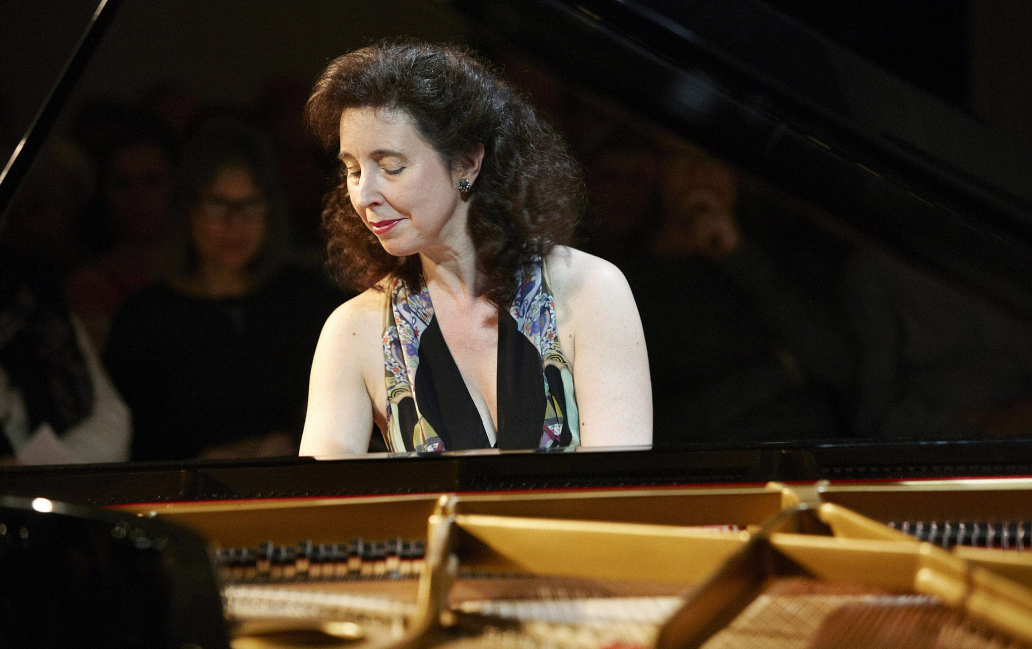 """Hewitt practiced on the """"Hans"""" piano and decided to use it for her performances. (Photo by Ole Christiansen)"""