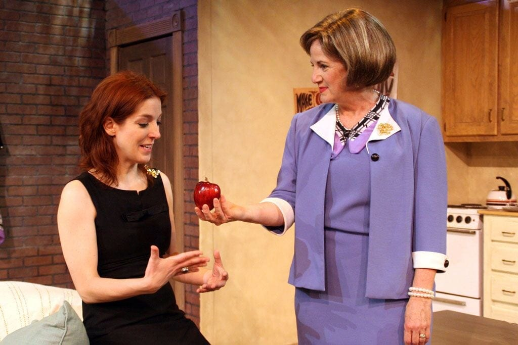 The late Jo Howarth Noonan (right) and Megan Hayes in Butterflies Are Free.