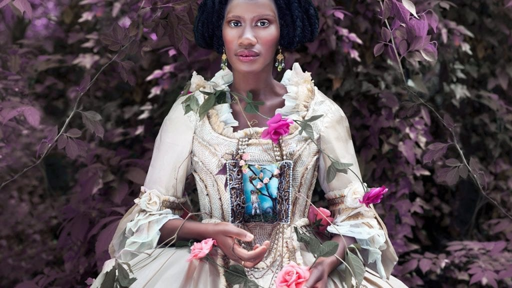 "Fabiola Jean Louis: ""Amina"" (2016). 22"" x 22"", Archival pigment print. Image courtesy the artist and Alan Avery Art Company."