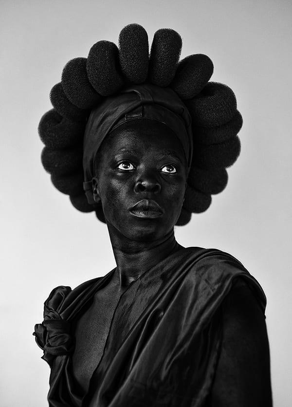 self-portrait of artist Zenele Muholi