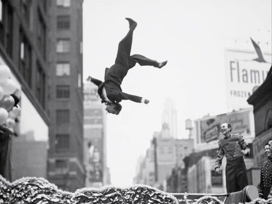 image of man falling by street photographer Gary Winograd