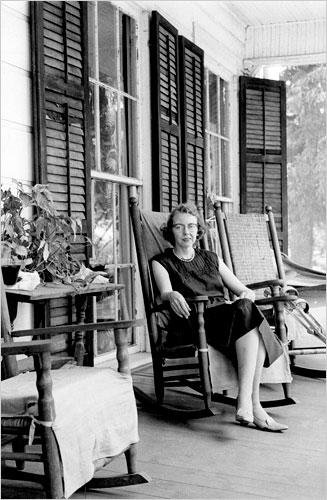 Flannery O'Connor at home in Andalusia