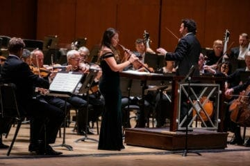 The Atlanta Symphony Orchestra's Elizabeth Koch Tiscione performs on oboe.