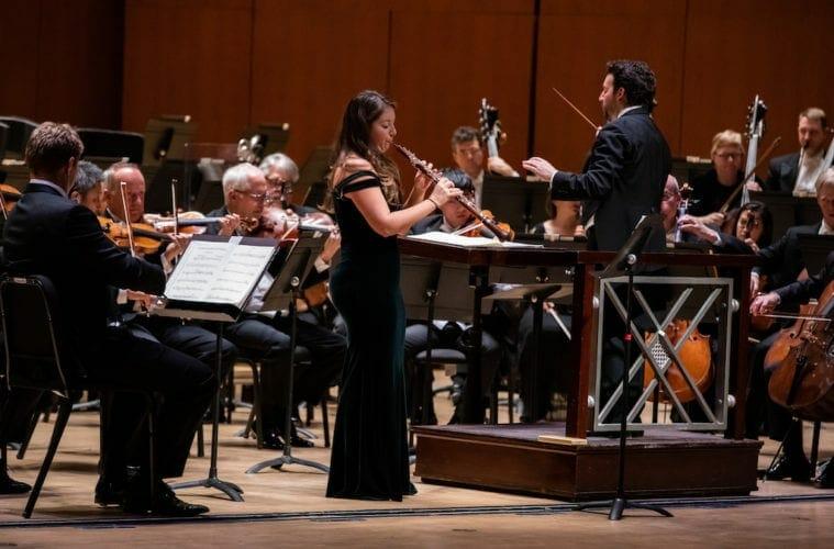 The Atlanta Symphony Orchestra's Elizabeth Koch Tiscione performs on oboe.