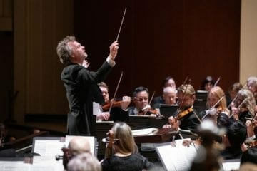 ASO guest conductor Thomas Søndergård conducts the orchestra.