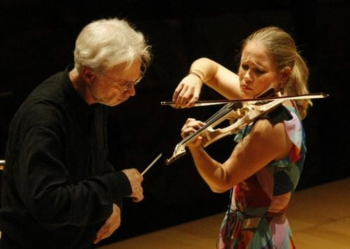 John Adams and Leila Josefowicz will perform with the ASO this weekend.