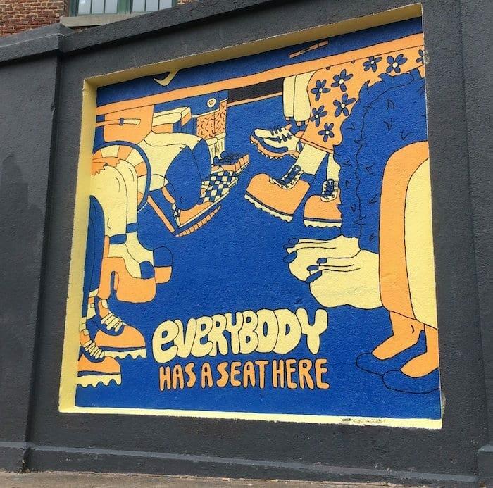 """George F. Baker III mural """"Everybody."""""""
