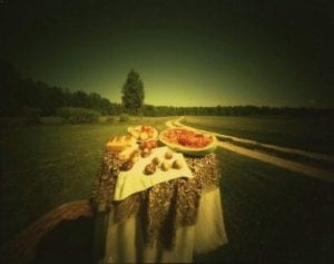 """Willie Anne Wright, """"Still Life with Richard's Road #5, 1981."""" Copyright the artist and courtesy of Jackson Fine Art."""