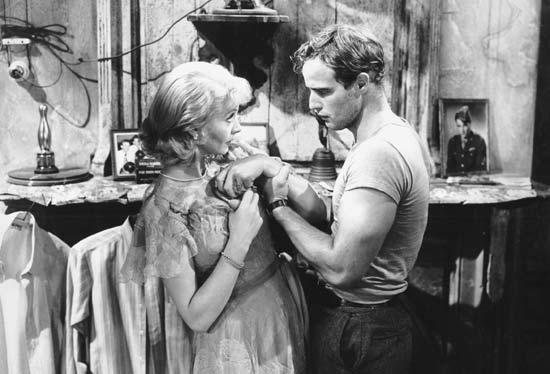 Vivian Leigh and Marlon Brando in A Streetcar Named Desire.