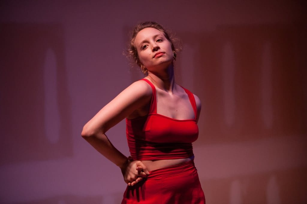 Phillips dances in her piece Honey, You Know Where To Find Me in 2015. (Photo by Jessica Pinkstone)
