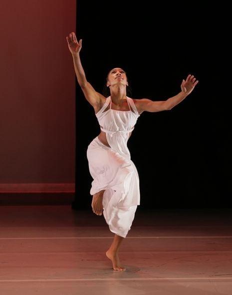 """Demetia Hopkins in Ailey's """"Grace."""" (Photo by Paul Kolnik)"""