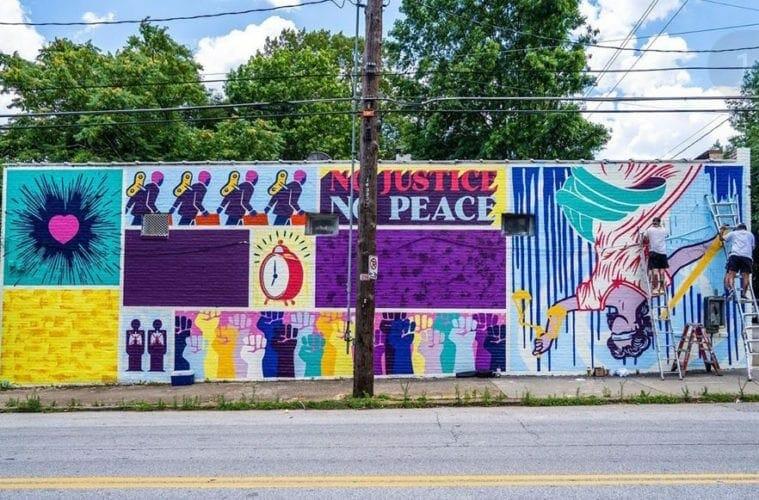 ABV Gallery BLM mural June 2020