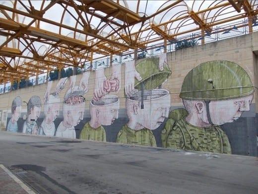 Mural by Italian street artist BLU