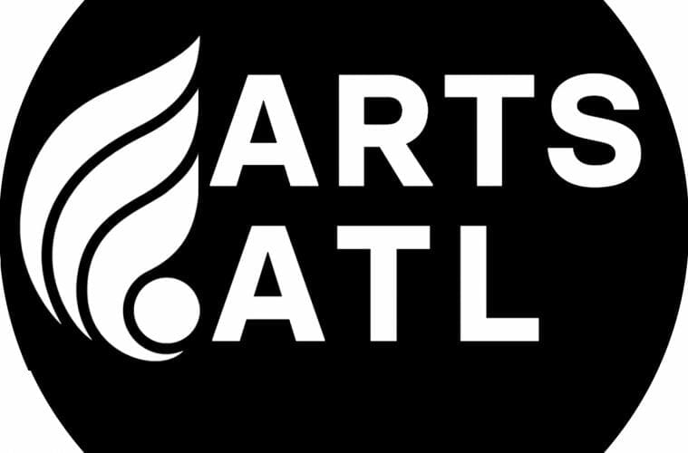 ArtsATL logo, black and white