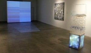 Installation Shot, South Gallery, works by Bojana Ginn and Erick Mack.